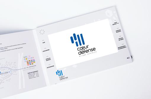Plaquette vidéo personnalisée pour communication entreprise