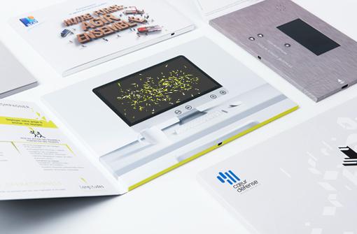 Plusieurs brochures vidéo pour entreprises