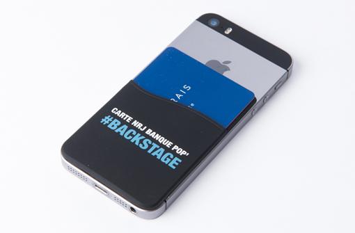 Porte carte publicitaire pour smartphone