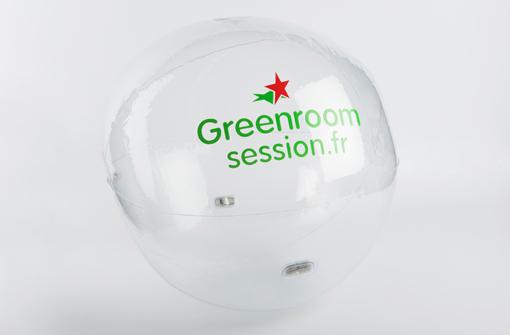 Ballon lumineux transparent marqué avec un logo