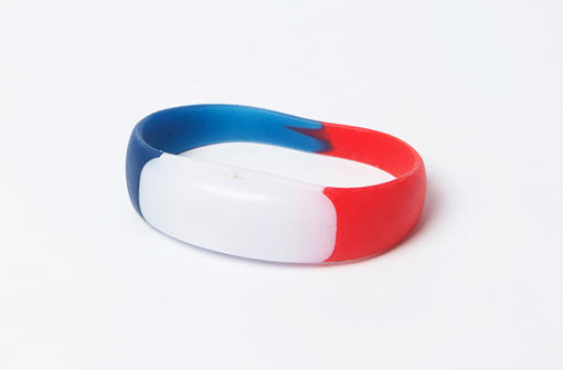 Bracelets LED supporter 3 couleurs drapeau français