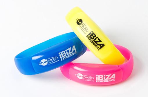 Bracelets lumineux LED personnalisés pour Fun Radio