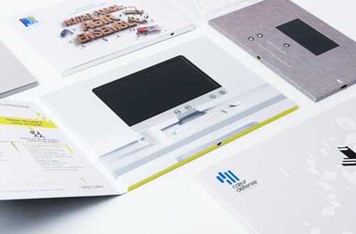 Brochures vidéo, objet oublicitaire innovant par By Touch