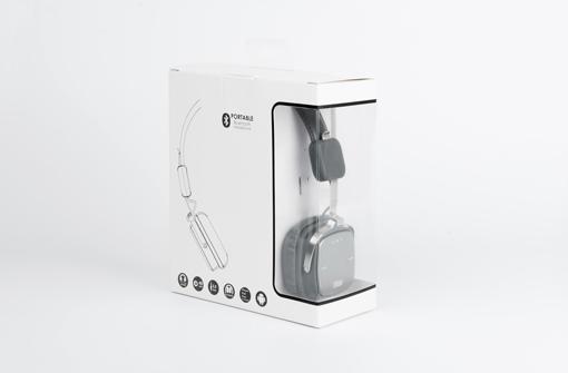 Coffret cadeau publicitaire contenant un casque audio Bluetooth personnalisé