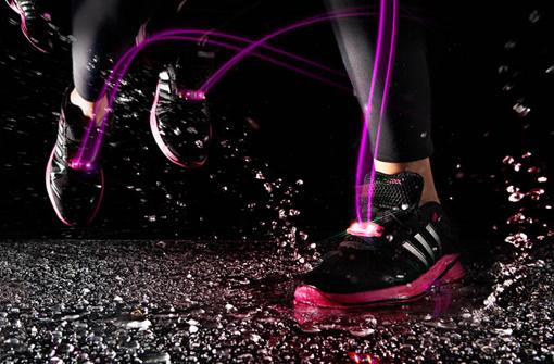Shoe lights accessoires lumineux à LED sur des chaussures de running