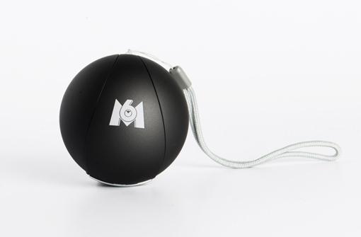 Enceinte Balle noire personnalisée avec logo M6