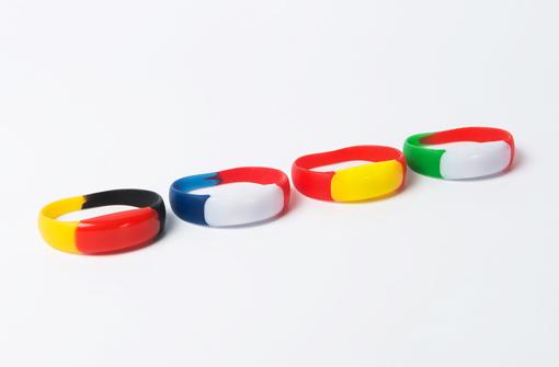 Bracelets LED 3 couleurs drapeau pour les supporters
