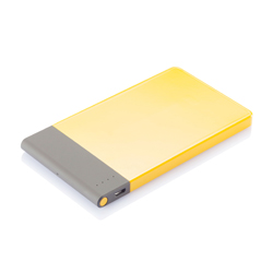 power bank publicitaire jaune