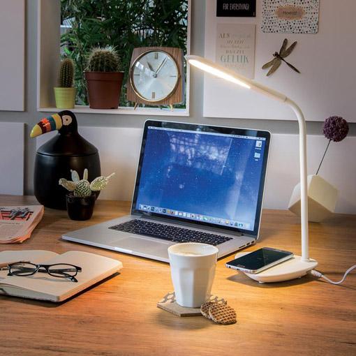 Lampe publicitaire LED avec chargeur à induction