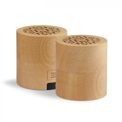 Enceintes publicitaire bluetooth stéréo wood