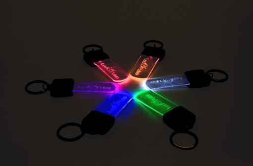 Porte clé lumineux publicitaire en plusieurs coloris