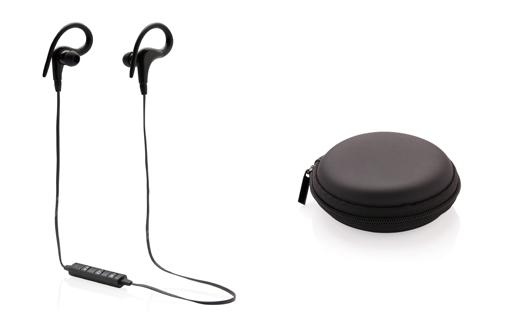 Écouteurs sans fil publicitaires de sport avec boitier