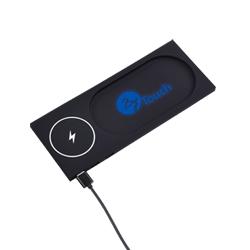 Chargeur sans fil lumineux personnalisé avec un logo