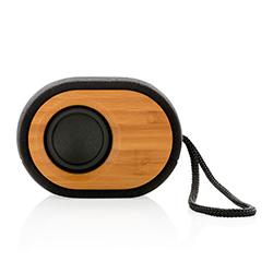 Enceinte Bluetooth en bois avec cordon noir