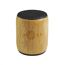 Enceinte bluetooth en bambou personnalisée avec un logo