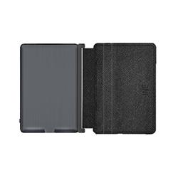 Porte-cartes anti RFID avec powerbank en simili cuir noir