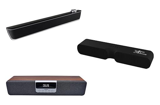 3 modèles de barres de son Bluetooth à personnaliser avec logo
