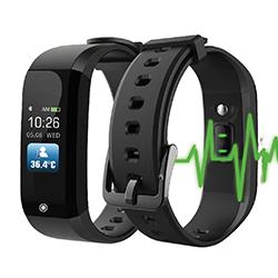 Montre thermomètre connectée publicitaire format bracelet