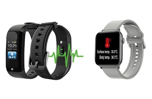 2 modèles de montres thermomètres personnalisables avec logo